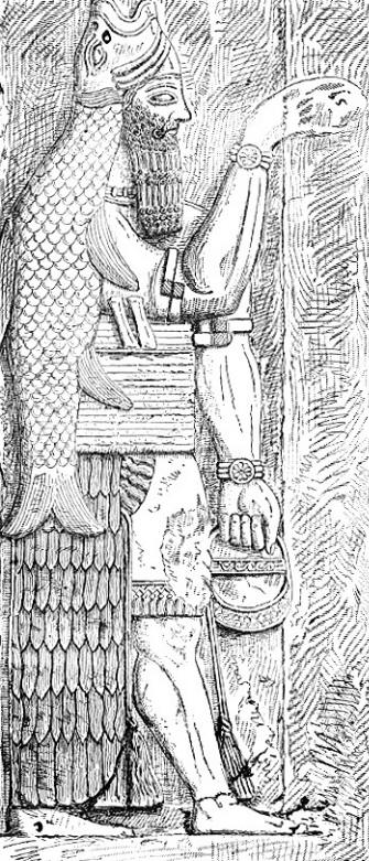 Assyrian fish god from Whymper's